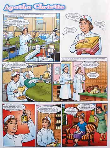 Strip 'Agatha Christie', uit Powergirls van de Tina. Geschreven door Paulien Andriessen.
