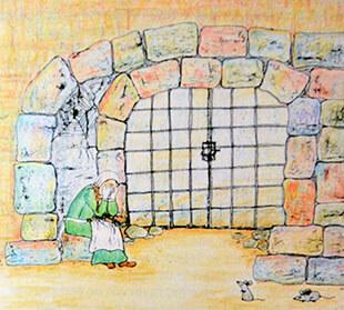 Illustratie uit het boek 'Het meisje met de schelpen', door Kini Vrielink (1)
