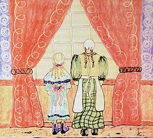 Illustratie uit het boek 'Het meisje met de schelpen', door Kini Vrielink (2)