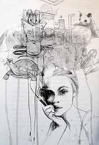 Illustratie van Beatrix Potter uit het boek 'Meisjes met dromen', door Monique van den Hout