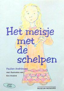 De voorkant van het boek 'Het meisje met de schelpen' geschreven door Paulien Andriessen