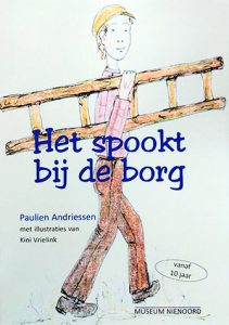De voorkant van het boek 'Het spookt bij de borg' geschreven door Paulien Andriessen